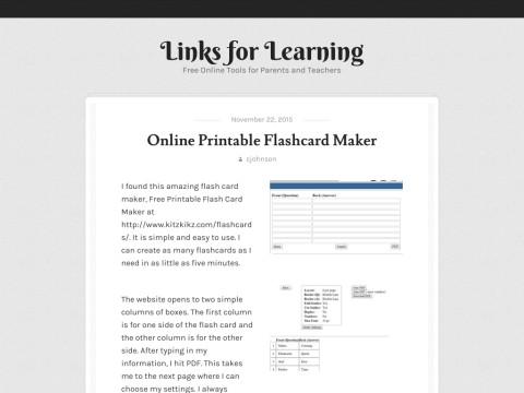 Links for Learning, Instant Homework Help
