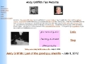 Andy Griffith Fan Website