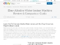 Ebay Alkaline Water Ionizer Comparisons Guide