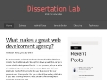 DissertationLab: Custom Dissertation