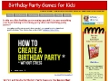 Birthday Party Games Lady