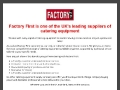 Factory First your local catering equipment supply