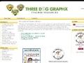 Three Dog GraphX Personalized Teacher Stickers