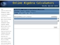 Algebra Equation Linear