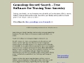 A Genealogy Record Search