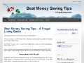 Best Money Saving Tips – A Frugal Living Guide