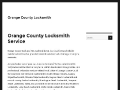 Orange County Locksmith Services