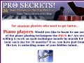 Piano Players: Secrets of the professional piano p