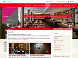 Andaz Hotel - Liverpool Street London Restaurants