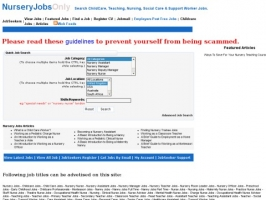 Nursery Jobs, Child Care Jobs