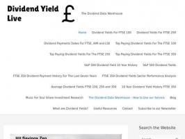 The Dividend Data Warehouse - Dividendyieldlive.com