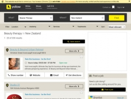 Yellow Pages Group: Beauty Therapy in New Zealand
