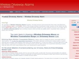 Wireless Driveway Alarms