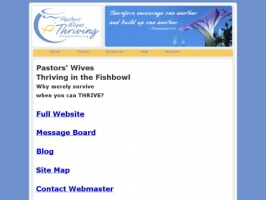 Pastors Wives Thriving in the Fishbowl