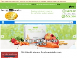 Best Vitamins For All: GNLD Neolife products.