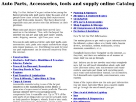 Auto parts and accessories online store
