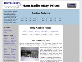 Joe Trackers Ham Radio eBay Selling Prices