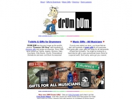 DRUM BUM: T-shirts and Gifts for Drummers!