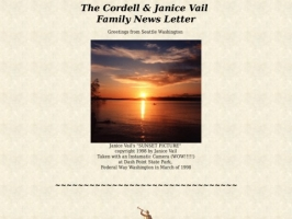 Cordell Vail Family Web Page