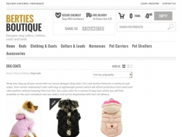 Dogs Coats From Berties Boutique