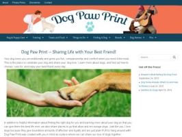 Dog Paw Print- All About the Family Dog