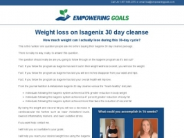 Weight Loss On Isagenix 30 Day Cleanse