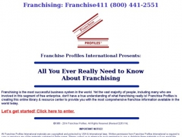 All About Franchising & Franchise Profiles