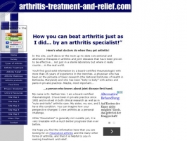 arthritis treatment and relief