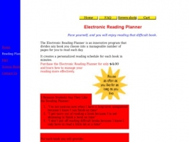 Electronic Reading Planner