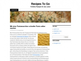 Food and Drink Recipe Collection : Recipes To Go