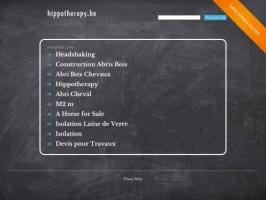 hippotherapy and handicap in Belgium