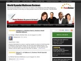 World Hyundai Matteson Reviews