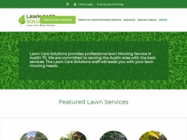 Lawn Mowing, Lawn Care - Lawn Care Solutions - Austin TX