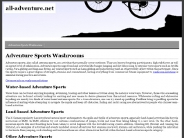An Adventure Sports - Activities - Games Directory