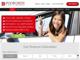 Poor Credit Car Finance