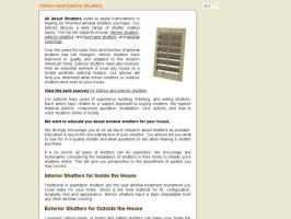 All About Window Shutters