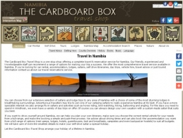 Cardboard Box Travel Shop Namibi