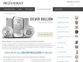 Provident Metals: Buy Silver Bullion