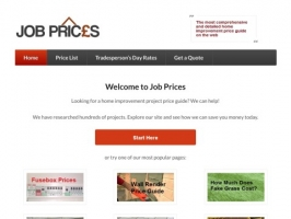 Job Prices - Home Improvements