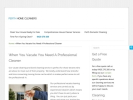 Vacate Cleaning with Perth Home Cleaners